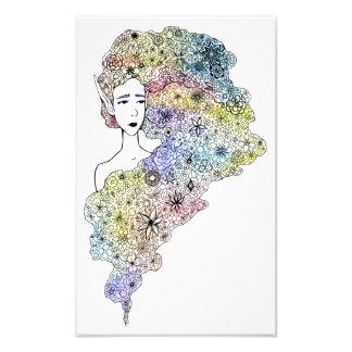 """Copie """"de cheveux de fleur"""" impression photo"""