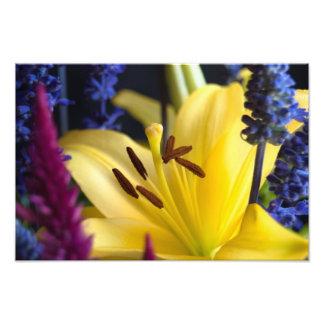 Copie de composition florale en lis photos sur toile