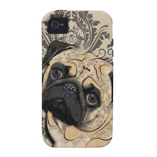 Copie de motif d'animal familier d'abrégé sur chie iPhone 4 case