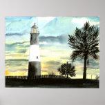 Copie de peinture de toile de phare d'île de Tybee Posters