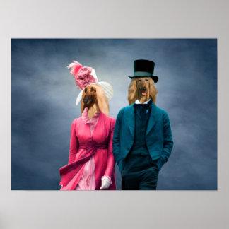 Copie de toile de couples de Regency de lévrier Posters