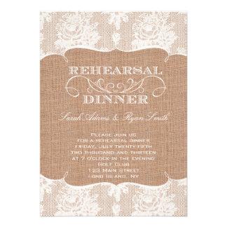 Copie de toile de jute et dîner rustiques de répét