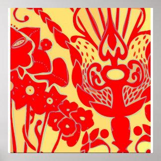 Copie de toile d'impression florale poster