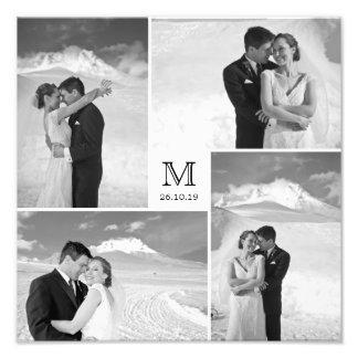Copie élégante de photo de mariage de monogramme