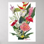 Copie et affiche d'aquarelle de fleurs de Hilo