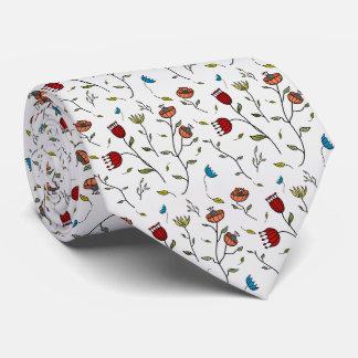 Copie florale de motif d'illustration de fleurs cravates personnalisées
