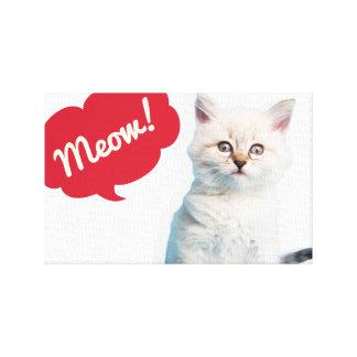 Copie mignonne d'affiche de légende de Meow de cha Toiles