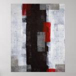 Copie noire et blanche d'affiche d'art abstrait