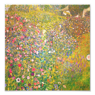 Copie rose de fleurs de Gustav Klimt Tirage Photo