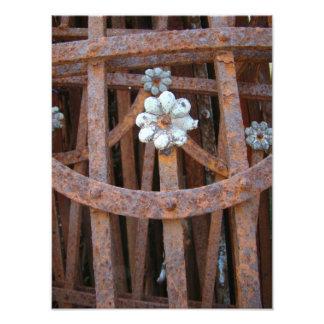 Copie rouillée de fleur photo sur toile