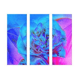 Copie triple de toile - fleur de camélia