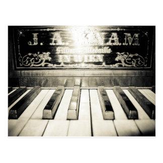 Copie vintage de piano carte postale