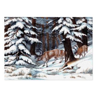 Copie vintage de renne modèle de carte de visite