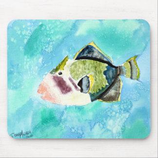 copies d'art de peinture de vie marine de poissons tapis de souris