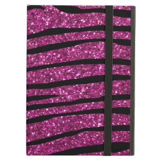 Coque iPad Air Rayures roses de zèbre de parties scintillantes