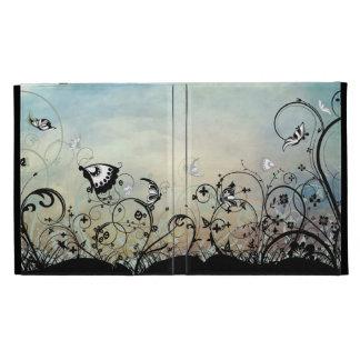Coque ipad de cieux bleus et de papillons