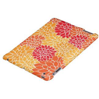 Coque ipad floral orange