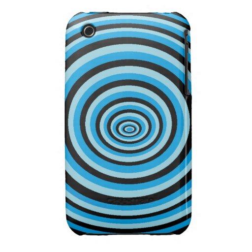 Coque iPhone 3 dégradé ronds bleu