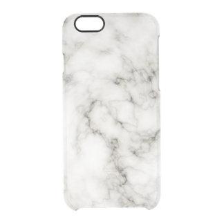 Coque iPhone 6/6S Pierre de marbre blanche noire de marbre ene