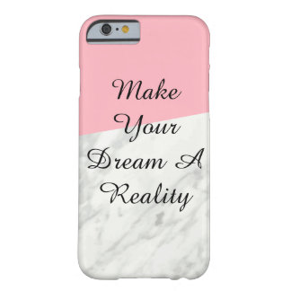 Coque iPhone 6 Barely There Caisse de marbre et de téléphone de rose