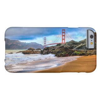 Coque iPhone 6 Barely There Golden gate bridge au coucher du soleil