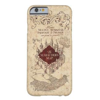 Coque iPhone 6 Barely There La carte du maraudeur du charme   de Harry Potter