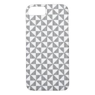 Coque iPhone 7 Cas de motif de bloc de tapisserie à l'aiguille de