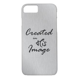 Coque iPhone 7 Créé dans sa citation chrétienne d'image