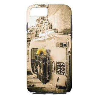 Coque iPhone 7 Fiat vintage 500, Cinquecento dans le cas de