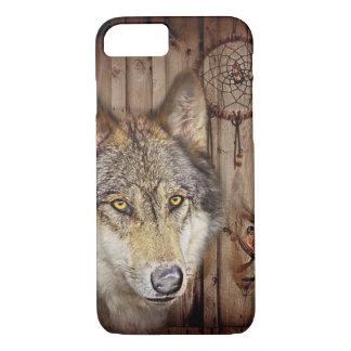 Coque iPhone 7 Loup indien indigène de receveur rêveur occidental