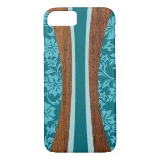 Coque iPhone 7 Planche de surf hawaïenne en bois de Faux de