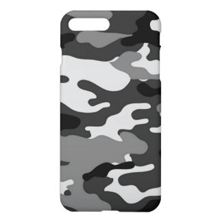 Coque iPhone 7 Plus Cas plus de l'iPhone 7 gris de camouflage