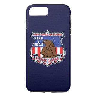 "Coque iPhone 7 Plus Kodiak Alaska ""bleu marine d'aéroport de la garde"