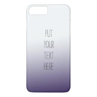 Coque iPhone 7 Plus Ombre pourpre personnalisé avec votre texte