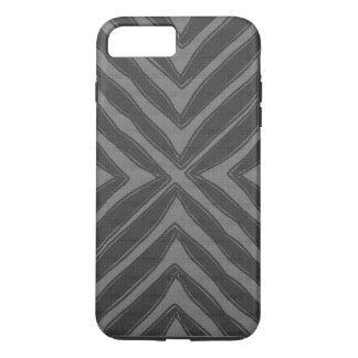 Coque iPhone 7 Plus Regard de toile gris d'impression africain moderne