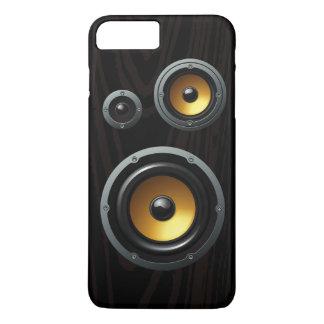 Coque iPhone 7 Plus Rétro trio en bois de haut-parleur de grain
