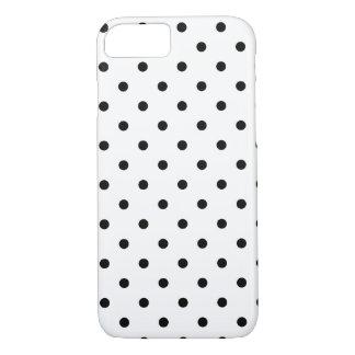 Coque iPhone 7 Pois noir et blanc