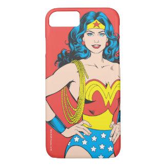 Coque iPhone 7 Pose vintage de la femme de merveille | avec le