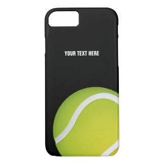 Coque iPhone 8/7 Balle de tennis verte personnalisée