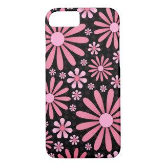Coque iPhone 8/7 Cas rose de téléphone de flower power