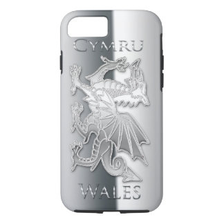 Coque iPhone 8/7 iPhone 6 d'effet d'argent de dragon de Gallois,
