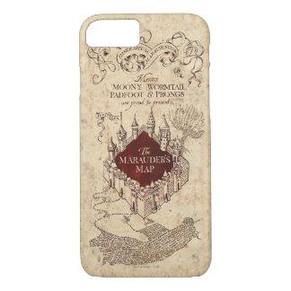 Coque iPhone 8/7 La carte du maraudeur du charme | de Harry Potter
