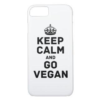 Coque iPhone 8/7 Maintenez calme et allez végétalien