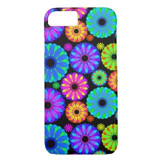 Coque iPhone 8/7 Rétros motifs de fleur colorés sur l'arrière -
