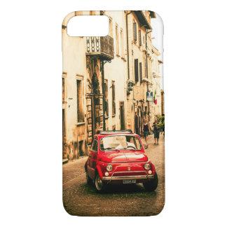 Coque iPhone 8/7 Rouge de Fiat 500 cas de l'iPhone 7 en Italie,