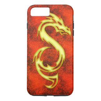 Coque iPhone 8 Plus/7 Plus Dragon d'or