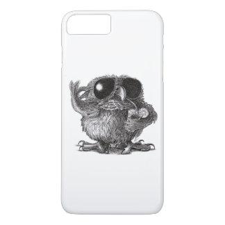 Coque iPhone 8 Plus/7 Plus Hibou drôle de cool d'animal