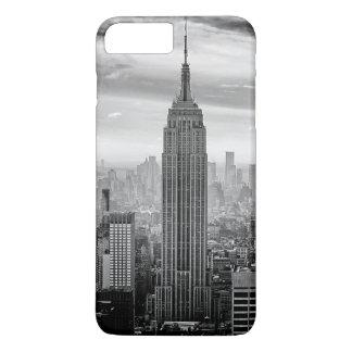 Coque iPhone 8 Plus/7 Plus Horizon de New York City noir et blanc