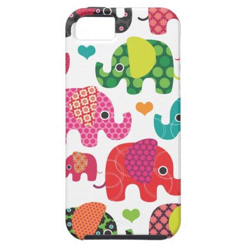 Coque iphone coloré de motif d'enfants d'éléphant coque iPhone 5