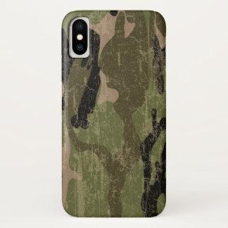 Coque iPhone X Camo vert fané